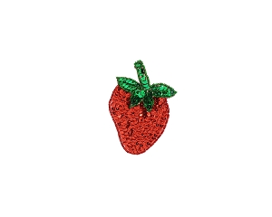 Small Strawberry Beaded & Sequin Applique #8865S 3.5