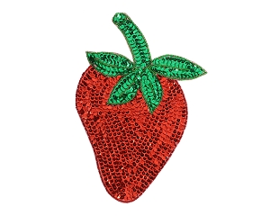 X-Large Strawberry Beaded & Sequin Applique #8865XL 5.25