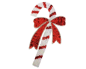 Candy Cane Beaded & Sequin Applique #9287 7.5