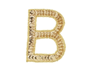 Alphabet II Beaded & Sequin Applique #ALPH2 2.5