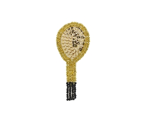 Tennis Racquet Beaded & Sequin Applique #LMT31 3