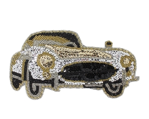 Mercedes Coupe Beaded & Sequin Applique #S8906 8