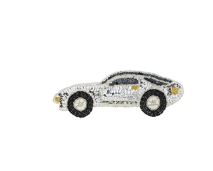 Porsche Car Beaded & Sequin Applique #S8908S 7