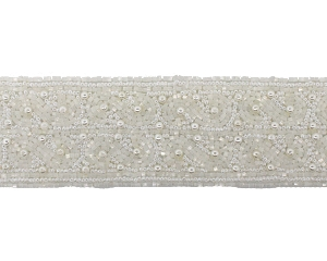 Beaded & Pearl Trim Banding #9038 2