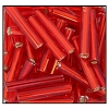 Bugle Bead #2400 12mm 97060 Light Red Transparent S/L (1/2 Kilo) (LOOSE) - CLEARANCE