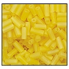 Bugle Bead #2400 20mm 81010M Yellow Transparent Iris Matt (1/2 Kilo) - CLEARANCE