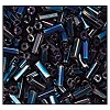 Bugle Bead #2400 20mm 59135 Blue Iris Metallic (1/2 Kilo) - CLEARANCE