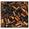 Bugle Bead #2400 #3 15101 Brown Satin (1/2 Kilo) - CLEARANCE
