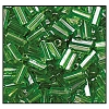 Bugle Bead #2400 #2 56430 Green Transparent Luster (1/2 Kilo) - CLEARANCE