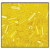 Bugle Bead #2400 #3 86010 Yellow Transparent Luster (1/2 Kilo) (LOOSE) - CLEARANCE