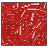 Bugle Bead #2400 #2 96070 Red Transparent Luster (1/2 Kilo) - CLEARANCE
