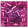 Bugle Bead #2400 #3 18228 Lilac Transparent Silver Lined (1/2 Kilo) - CLEARANCE