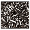 Bugle Bead #2400 #2 47010 Smoke Grey Transparent Silver Lined (1/2 Kilo) (LOOSE) - CLEARANCE