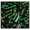 Bugle Bead #2400 20mm 57620 Dark Emerald Transparent Silver Lined (1/2 Kilo) - CLEARANCE