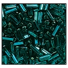 Bugle Bead #2400 20mm 57710 Blue Zircon Transparent Silver Lined (1/2 Kilo) - CLEARANCE