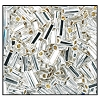 Bugle Bead #2400 20mm 78102 Crystal Transparent Silver Lined (1/2 Kilo)