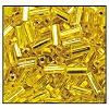 Bugle Bead #2400 20mm 87010 Citrine Transparent Silver Lined (1/2 Kilo) - CLEARANCE