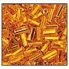 Bugle Bead #2400 20mm 87060 Topaz Transparent Silver Lined (1/2 Kilo) - CLEARANCE