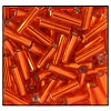 Bugle Bead #2400 20mm 97030 Orange Transparent Silver Lined (1/2 Kilo) - CLEARANCE