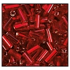 Bugle Bead #2400 20mm 97090 Dark Red Transparent Silver Lined (1/2 Kilo) - CLEARANCE