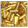 Bugle Bead #2400 #3 17050 Gold Transparent Silver Lined (1/2 Kilo) (LOOSE) - CLEARANCE