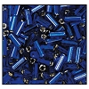 Bugle Bead #2400 #2 37100 Cobalt Transparent Silver Lined (1/2 Kilo) (LOOSE) - CLEARANCE