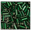 Bugle Bead #2400 30mm 57060 Emerald Transparent Silver Lined (1/2 Kilo) - CLEARANCE