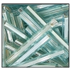Bugle Bead #2400 20mm 67000 Icy Light Aqua Transparent Silver Lined (1/2 Kilo) - CLEARANCE