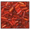 Bugle Bead #2400 20mm 97070 Light Red Transparent Silver Lined (1/2 Kilo) - CLEARANCE