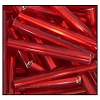 Bugle Bead #2400 20mm 97080 Red Transparent Silver Lined (1/2 Kilo) - CLEARANCE