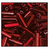 Bugle Bead #2400 20mm 97120 Burnt Red Transparent Silver Lined (1/2 Kilo) - CLEARANCE