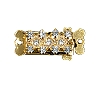 Clasps #348 Gold/Crystal 21mm 2 Rows (12 Pieces)