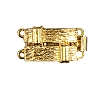 Clasps #6151 Gold 18mm 2 Rows (12 Pieces)