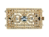 Clasps #6171 Gold/Crystal 48mm 3 Rows (6 Pieces)