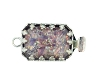 Clasps #305 Silver/Purple 1 Row (12 Pieces)  - CLEARANCE