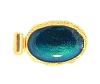 Clasps #324 Gold/Blue 1 Row (12 Pieces)  - CLEARANCE