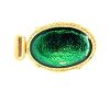 Clasps #324 Gold/Green 1 Row (12 Pieces)  - CLEARANCE