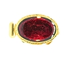 Clasps #324 Gold/Red 1 Row (12 Pieces)  - CLEARANCE
