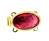 Clasps #324 Gold/Red 2 Rows (12 Pieces)  - CLEARANCE