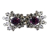 Clasps #325 Silver/Amethyst 2 Rows (12 Pieces)  - CLEARANCE