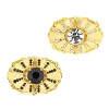 Rhinestone Connectors #3666 (Gold/Crystal & Gold/Jet) (4 Pieces)  - CLEARANCE