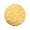 European Glass Buttons #1852 Gold 22mm (12 Pieces) - CLEARANCE