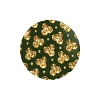 European Glass Buttons #1853 Green/Gold 18mm (12 Pieces) - CLEARANCE