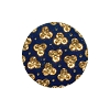 European Glass Buttons #1853 Royal Blue/Gold 18mm (12 Pieces) - CLEARANCE