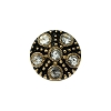 European Rhinestone Buttons #1955 Gold/Crystal 14mm (12 Pieces) - CLEARANCE