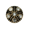 European Rhinestone Buttons #1955 Gold/Crystal 18mm (12 Pieces) - CLEARANCE