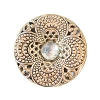 Fancy Metal Filigree Button #1966 27mm Antique Gold (17 Pieces) - CLEARANCE