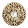 Fancy Metal Filigree Button #1966 32mm Antique Gold (11 Pieces) - CLEARANCE