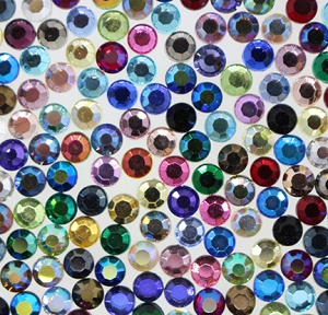 Machine Pressed Flatback Rhinestones #5015 SS20 Assorted Colors (720 Pieces) - CLEARANCE