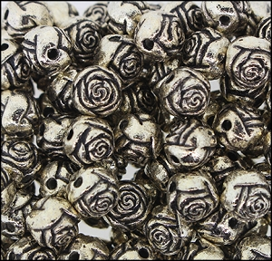 Plastic Rosebud Beads #235 9mm Antique Light Gold (1,000 Pieces) - CLEARANCE